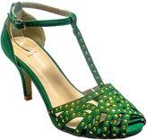 DEV Women Forever Aspen-2 T-Strap Gladiator Flip Flop Sling Back Kitten Heel Sandale Shoes