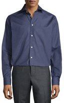 Eton Circular-Print Dress Shirt, Navy