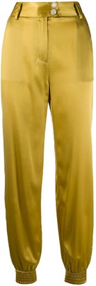 Just Cavalli Engraved-Button Tapered Trousers