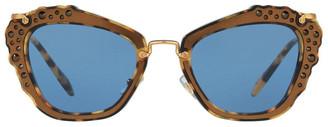 Miu Miu MU 04QS 390943 Sunglasses Gold