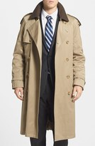 Hart Schaffner Marx Men's 'Barrington' Cotton Blend Trench Coat