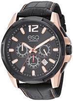 ESQ Men's Stainless Steel Chronograph Watch w/ Leather Strap FE/0140