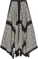 Altuzarra Phineas Asymmetric Paisley-print Silk Midi Skirt - Black
