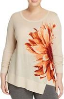 Marina Rinaldi Abbazia Flower Print Wool Sweater