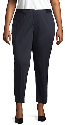 Lafayette 148 New York Plus Slim Leg Cotton Blend Pants
