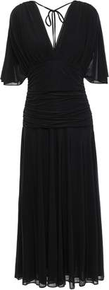 Diane von Furstenberg Ruched Jersey Midi Dress