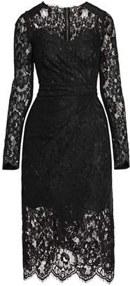 Dolce & Gabbana Lace Midi Sheath Dress