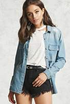 Forever 21 Distressed Denim Shirt