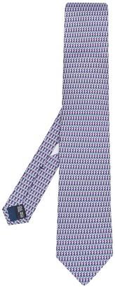 Salvatore Ferragamo Seahorse Print Silk Tie