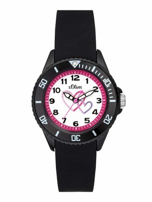 S'Oliver Unisex Child Analogue Quartz Watch with Silicone Strap SO-3633-PQ