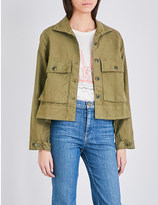 The Great The Swingy cotton-twill jacket
