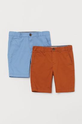 H&M 2-pack Chino Shorts - Orange