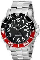 Croton Men's CA301280BKRD Analog Display Quartz Silver Watch