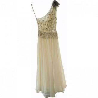 Jenny Packham White Silk Dress for Women
