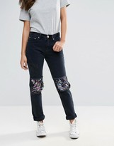 Glamorous Ripped Jeans With Sequins