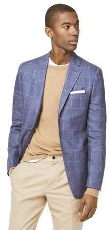 Todd Snyder White Label Linen Windowpane Sutton Sport Coat in Navy