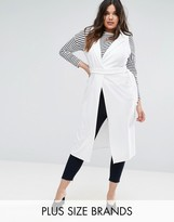 Boohoo Plus Sleeveless Duster Coat