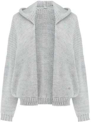 You By Tokarska Soft Sweater Akane With Hood Light Grey