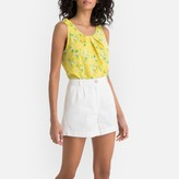 La Redoute Collections Ruffled Floral Print Vest Top