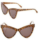 Stella McCartney 55MM Leopard-Print Cat's-Eye Sunglasses