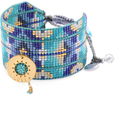 Mishky Turquoise & Gold 'Love' Charm Cuff