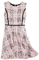 Sally Miller Girls' Bouclé Plaid Shimmer Dress - Sizes S-XL