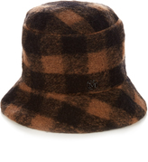 Maison Michel Matthew the Potters check wool hat