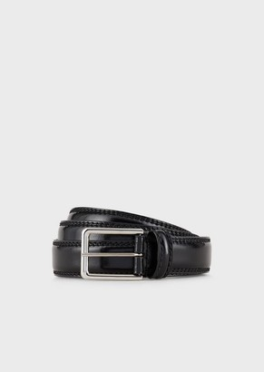 Giorgio Armani Brushed Leather Belt