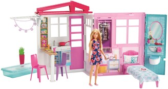 Mattel Barbie Portable One-Story Dollhouse Playset