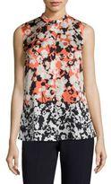 BOSS Bamina Floral-Print Silk Blouse