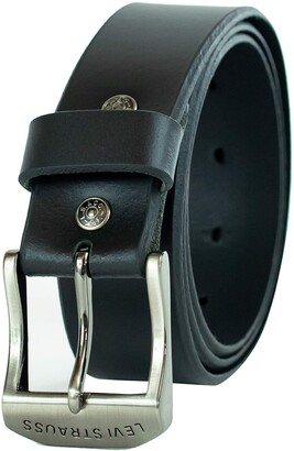 Levi's Men's 100% Leather Belt with Prong Buckle Brown 44