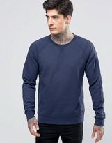 Scotch & Soda Sweatshirt With Raglan Sleeves And Contrast Cuff In Denim Blue