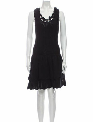 Oscar de la Renta 2011 Knee-Length Dress Black