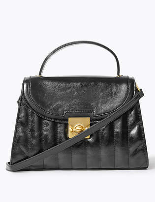 Marks and Spencer Top Handle Lock Detail Tote Bag