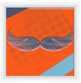 "PTM Images Thick Moustache Framed Giclee Print - 10"" x 10\"""