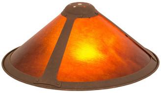 """Mica Meyda Lighting 17""""W Van Erp Replacement Shade, Antique Rust/Amber"""