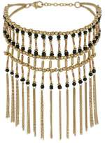 Miss Selfridge Beaded tassel collar