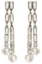 Ben-Amun Pearl Crystal Post Earrings