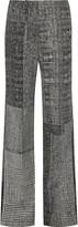 Jason Wu Patchwork wool-jacquard wide-leg pants