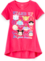 Jerry Leigh Fuschia Disney Tsum Tsum 'Stand Up' Tee - Girls