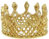 Cathy Waterman Wide Crown Ring