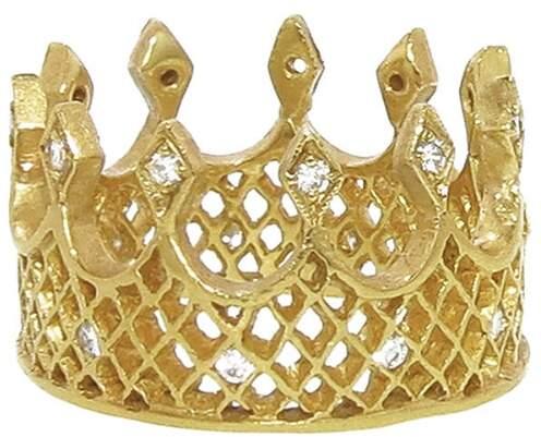 Cathy Waterman Wide Crown Ring