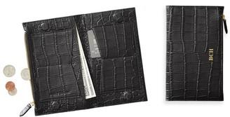 Mark And Graham Chelsea Croc-Embossed Folded Wallet