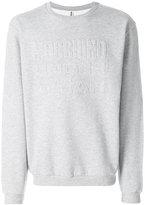 Moschino debossed logo sweatshirt