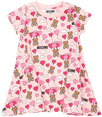 Moschino All Over Print Cotton Jersey Dress