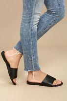 C Label Analia Black Slide Sandals