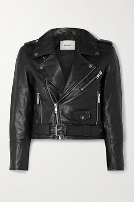 Deadwood Net Sustain Joan Leather Biker Jacket - Black