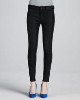 Joe's Jeans Suede Leather-Stripe Tux Skinny Jeans