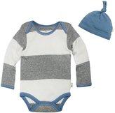 Burt's Bees Baby Bold Stripe Bodysuit Set (Baby) - Heather Grey-18 Months