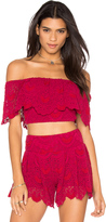 Nightcap Clothing Spanish Lace Crop Top